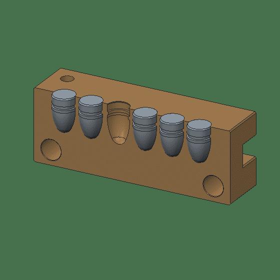 6cavity mp mold brass
