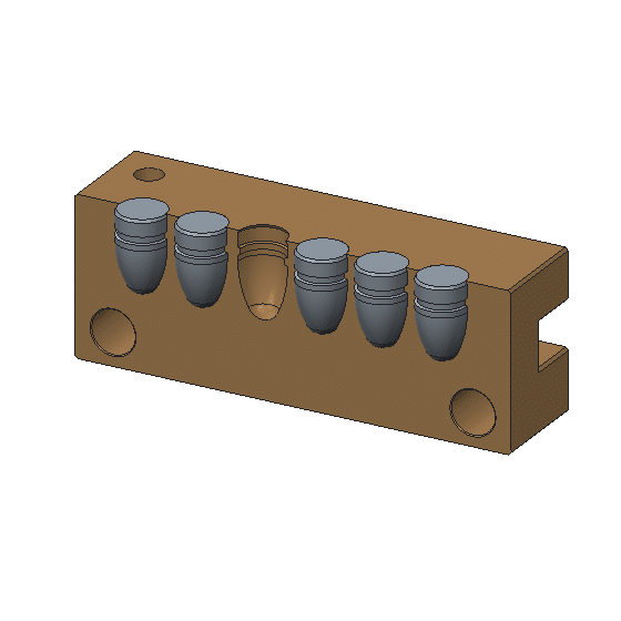 6 cavity brass mold Mp molds