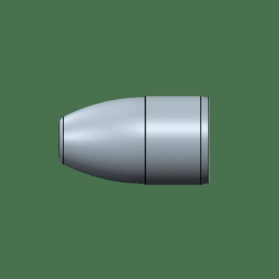 9mm 135 grain flat round nose bevel base mold